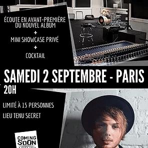 ROMAIN UGHETTO : AVANT-PREMIÈRE DE SON NOUVEL ALBUM À PARIS !
