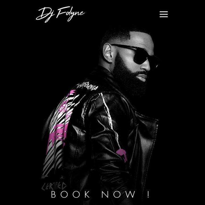 CRÉATION D'UN NOUVEAU SITE INTERNET POUR DJ FOLYNE, LE DJ DE DADJU