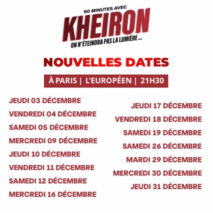 KHEIRON : 15 SHOWS À PARIS EN DÉCEMBRE